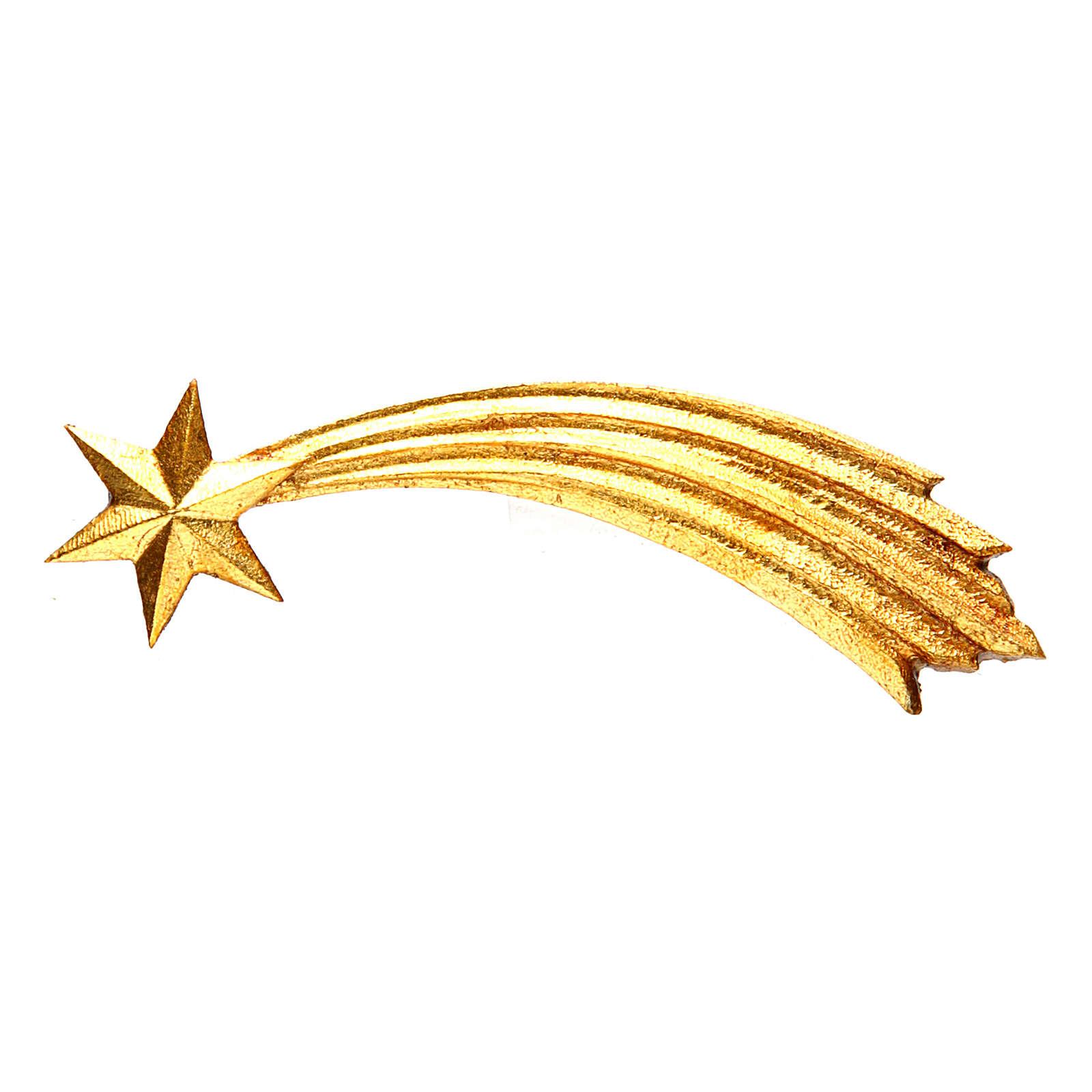 Gwiazda kometa szopka Original Pastore drewno malowane Val Gardena 12 cm 4