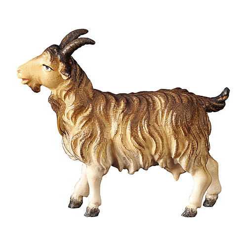 Capra presepe Original Pastore legno dipinto in Val Gardena 10 cm 1