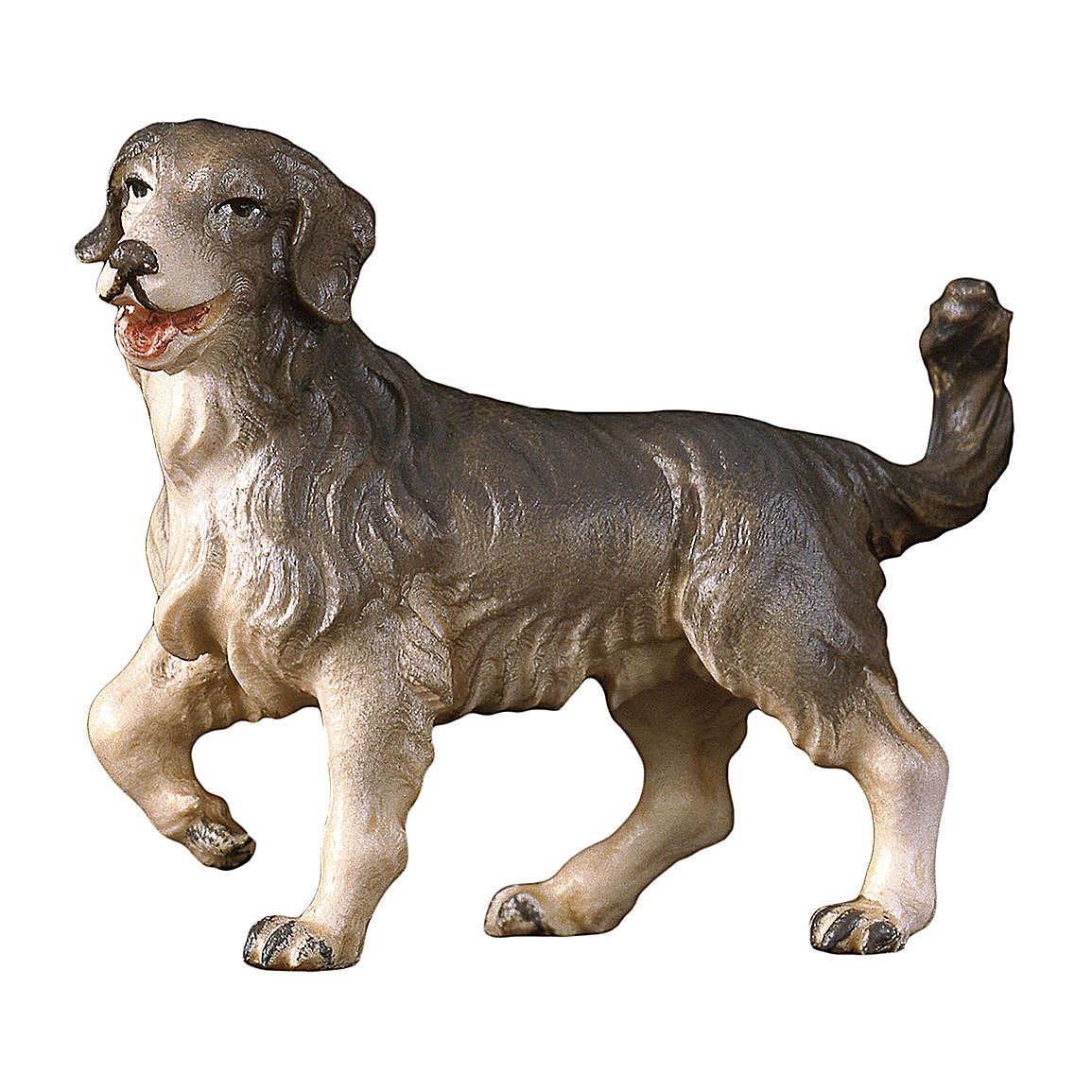Cane da pascolo presepe Original Pastore legno dipinto in Val Gardena 10 cm 4