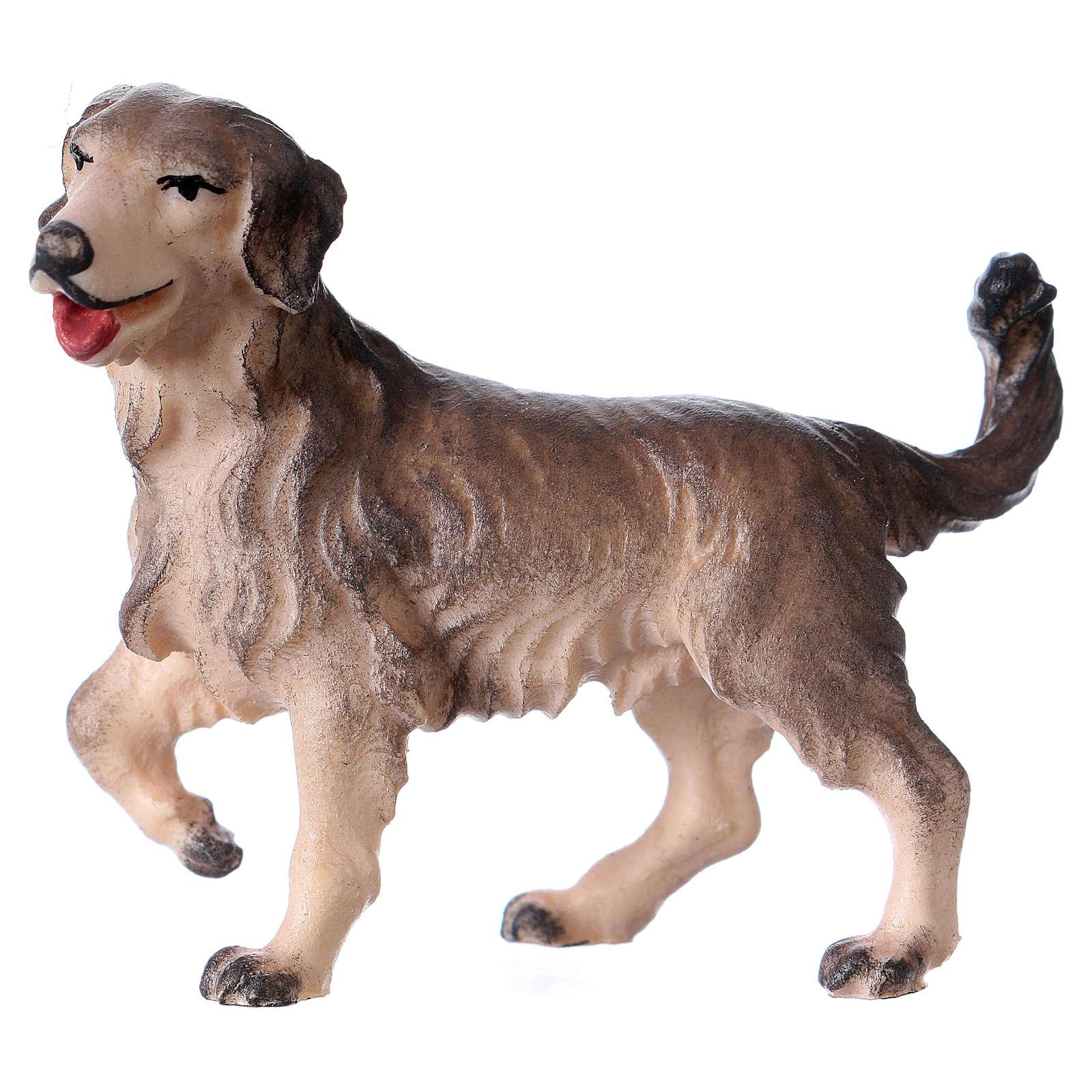 Cane da pascolo per presepe Original Pastore legno dipinto in Valgardena 12 cm 4