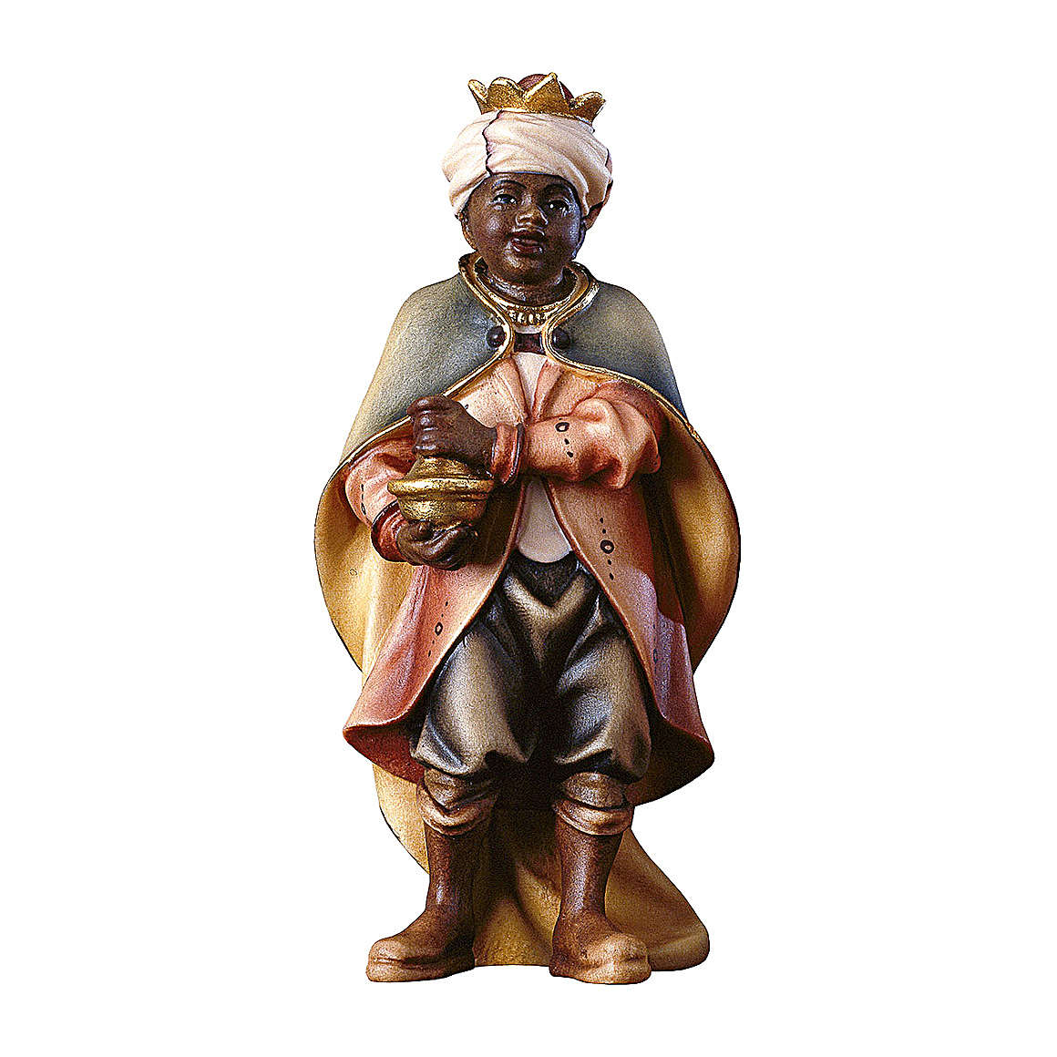 Piccolo cantore moro presepe Original Pastore legno dipinto in Val Gardena 10 cm 4