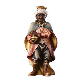 Piccolo cantore moro per presepe Original Pastore legno dipinto in Valgardena 12 cm s1