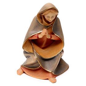 Sacra famiglia per presepe Original Redentore legno dipinto in Valgardena 12 cm 4 pezzi s3
