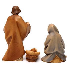 Sacra famiglia per presepe Original Redentore legno dipinto in Valgardena 12 cm 4 pezzi s6