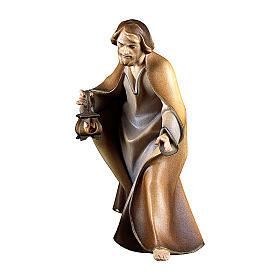Belén Val Gardena: S. José para belén Original Redentor madera pintada en Val Gardena 12 cm de altura media
