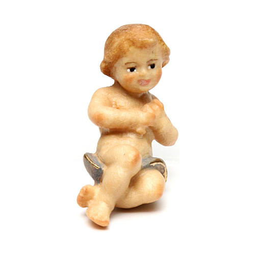 Gesù bambino per presepe Original Redentore legno dipinto in Valgardena 12 cm 1
