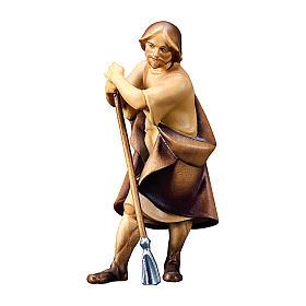 Pecoraio con zappa presepe Original Redentore legno dipinto in Valgardena 10 cm s1