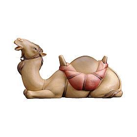 Cammello sdraiato presepe Original Redentore legno dipinto in Valgardena 12 cm s1