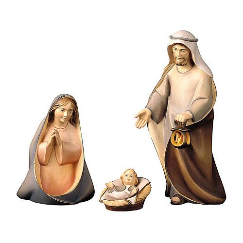 Sacra famiglia presepe Original Cometa legno dipinto in Val Gardena 10 cm 4 pezzi 1