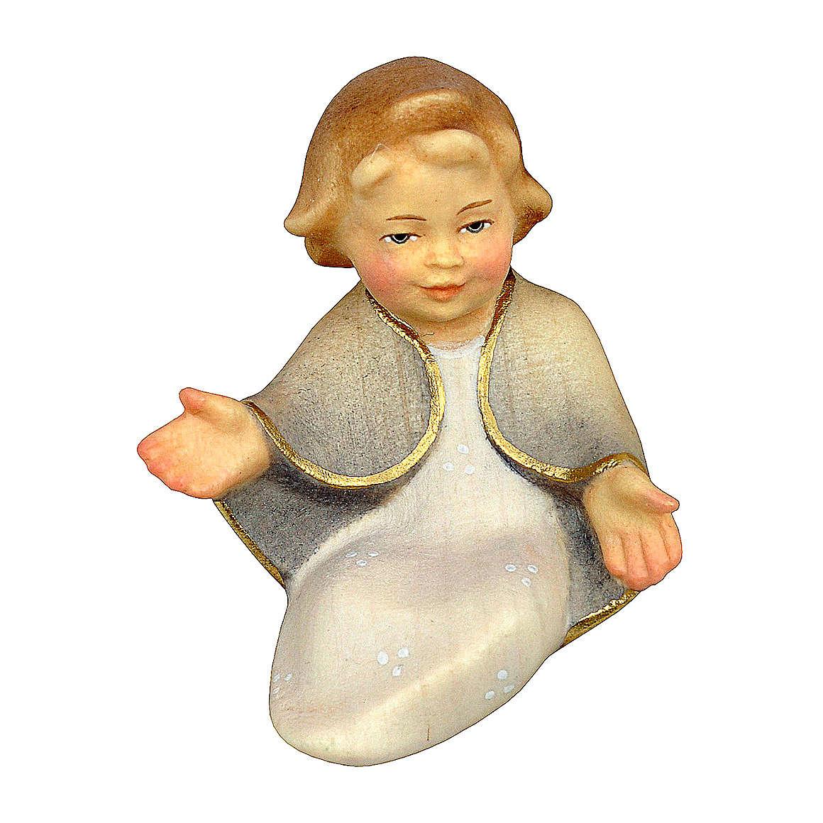 Gesù bambino presepe Original Cometa legno dipinto in Val Gardena 10 cm 4