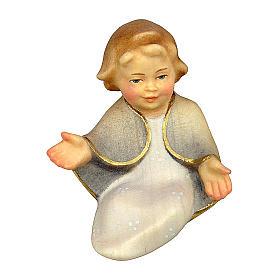 Gesù bambino presepe Original Cometa legno dipinto in Val Gardena 10 cm s1