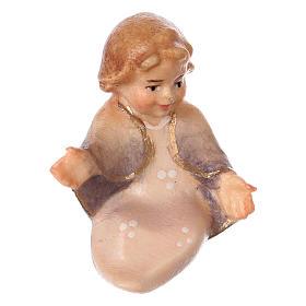 Belén Val Gardena: Niño Jesús para belén Original Cometa madera pintada en Val Gardena de 12 cm de altura media