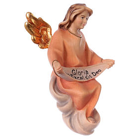Ángel gloria belén Original Cometa madera pintada en Val Gardena 12 cm de altura media s3