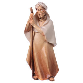 Belén Val Gardena: Pastor con bastón Original Cometa madera pintada en Val Gardena 12 cm de altura media