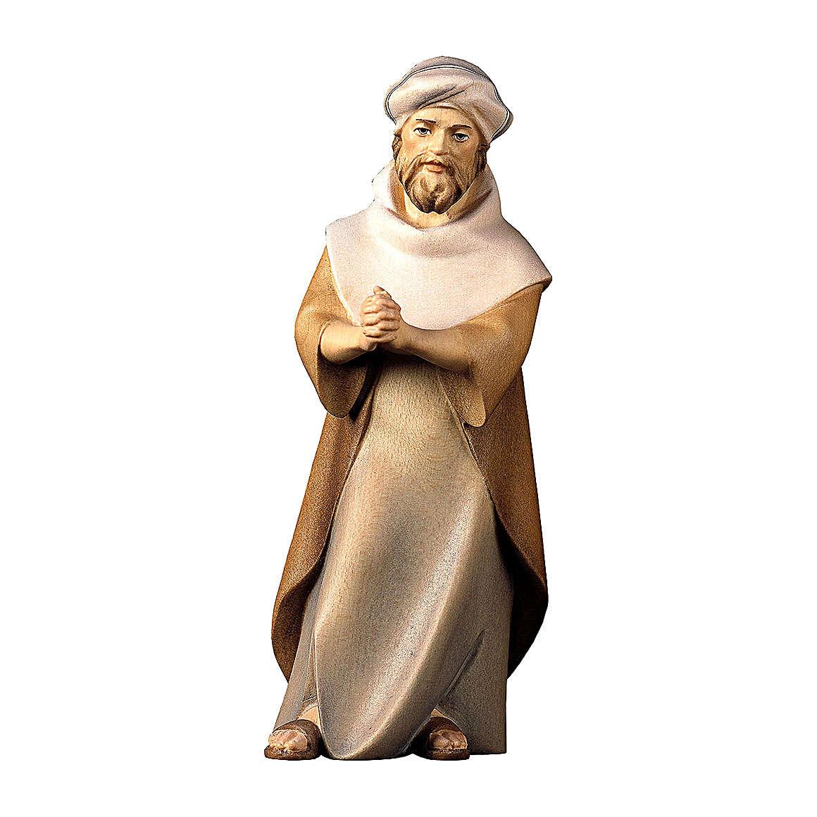 Pastore che prega Original Cometa legno dipinto in Valgardena 12 cm 4