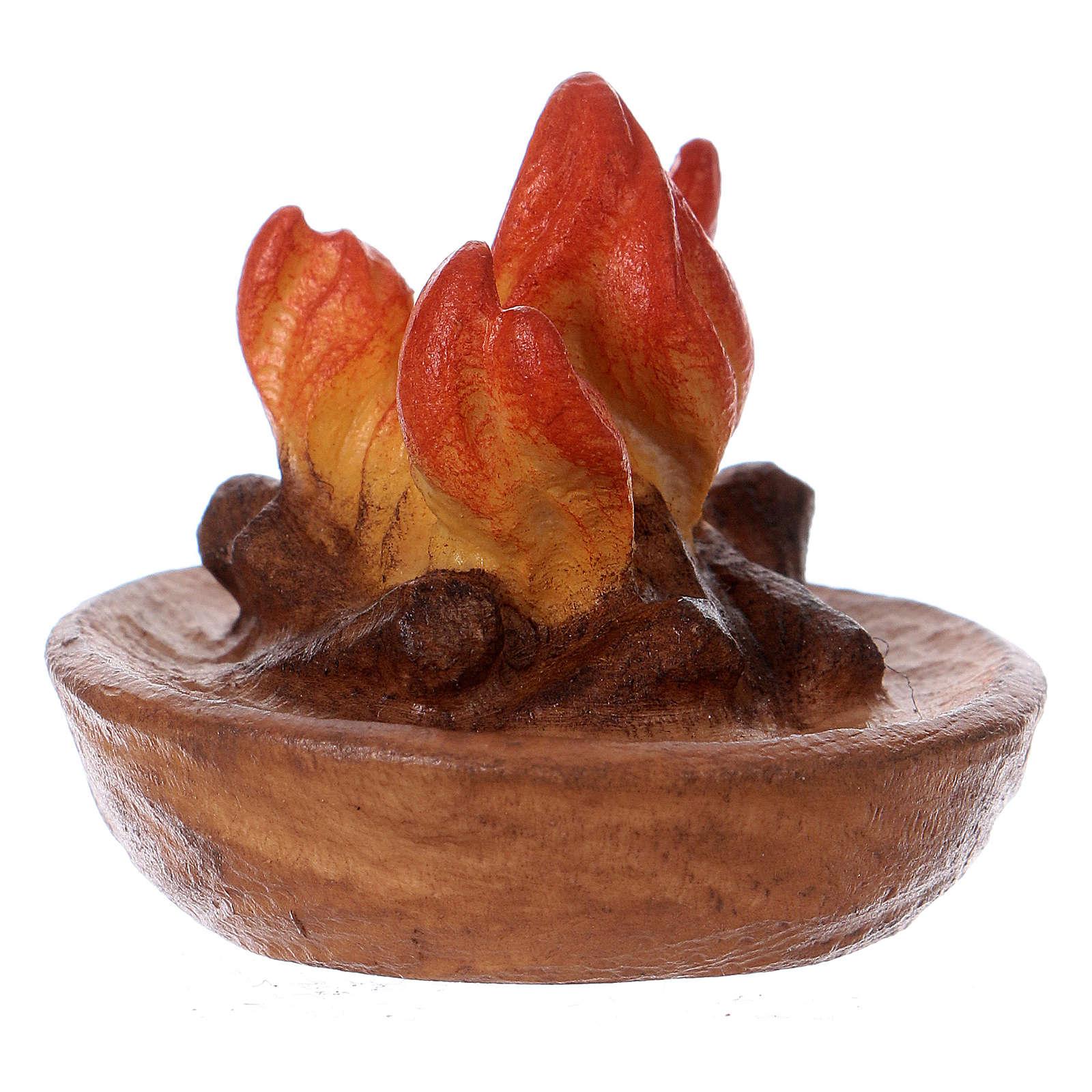 Fuoco per presepe Original Cometa legno dipinto in Valgardena 12 cm 4