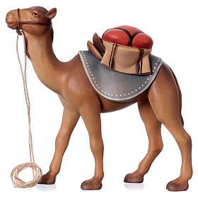 Belén Val Gardena: Camello de pie belén Original Cometa madera pintada en Val Gardena 12 cm de altura media