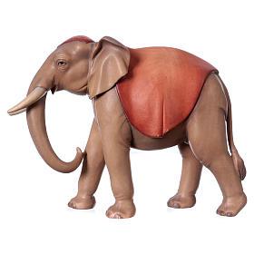 Belén Val Gardena: Elefante de pie para belén Original Cometa madera pintada en Val Gardena 12 cm