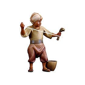 Cammelliere con mangime presepe Original Cometa legno dipinto in Val Gardena 10 cm s1