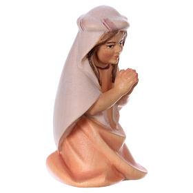 Bambina che prega inginocchiata per presepe Original Cometa legno dipinto in Valgardena 12 cm s3