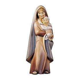 Contadina con neonato presepe Original Cometa legno dipinto in Val Gardena 10 cm s1