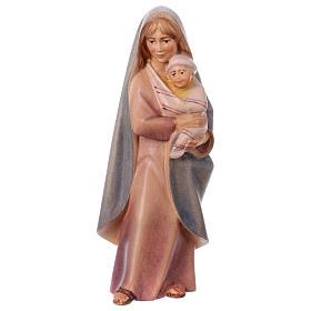 Belén Val Gardena: Campesina con bebé belén Original Cometa madera pintada en Val Gardena 12 cm de altura media