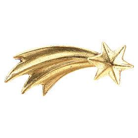 Gold Comet, 10 cm nativity Original Comet model, in painted Valgardena wood s1
