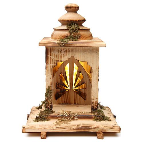 Natività Cometa lanterna con luce presepe Original Cometa legno dipinto Val Gardena 12 cm 4