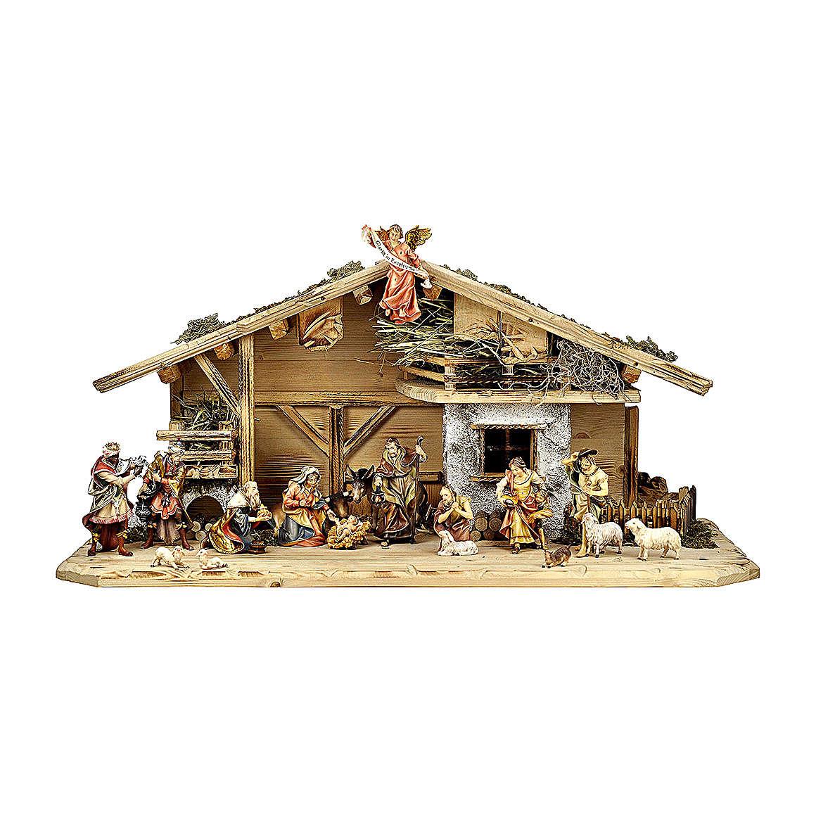 Presepe re magi, pastori, bue e asino mod. Original legno dipinto Val Gardena 12 cm - 18 pz 4