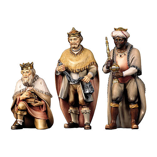 Tre re magi presepe Original Pastore legno dipinto in Val Gardena 12 cm 1