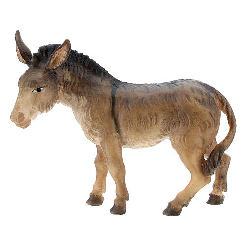 Buey y burro belén Original Pastor madera pintada en Val Gardena 10 cm de altura media 3