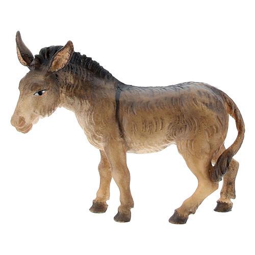 Boeuf et âne pour crèche Original Berger bois peint Val Gardena 10 cm 3