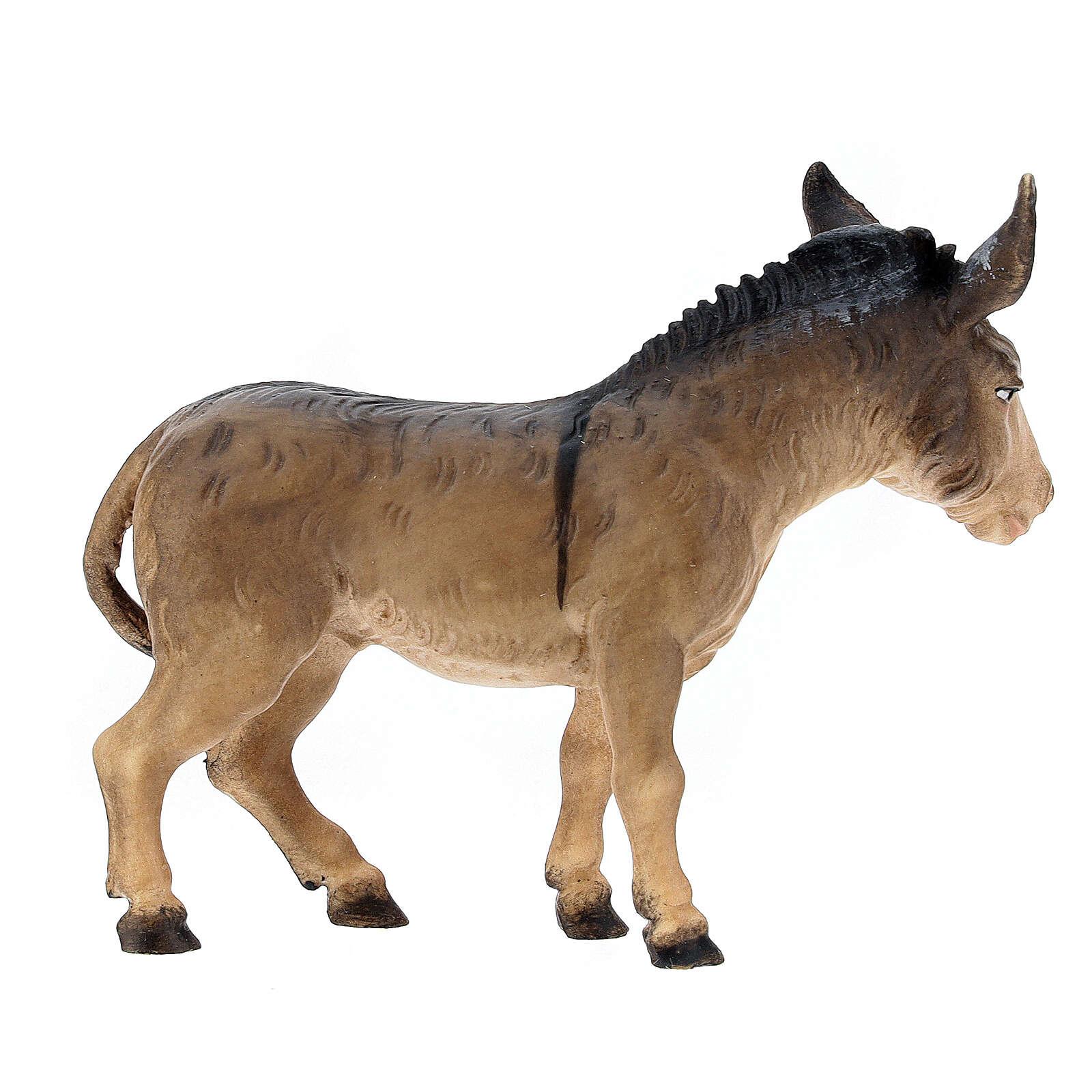 Boeuf et âne pour crèche Original Berger bois peint Val Gardena 12 cm 4