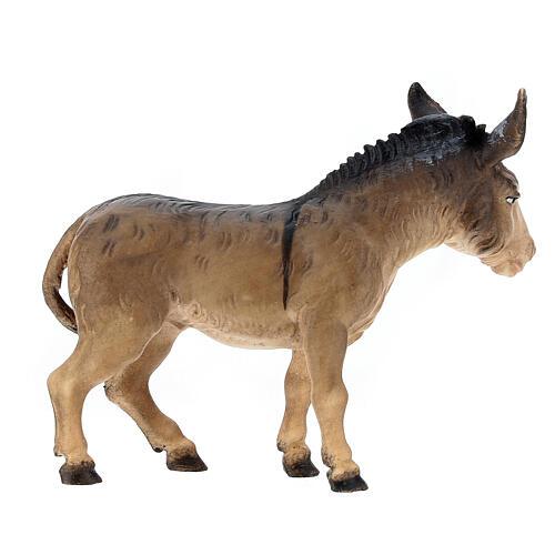 Boeuf et âne pour crèche Original Berger bois peint Val Gardena 12 cm 5