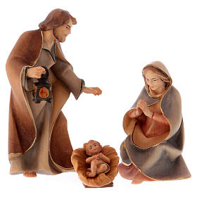 Belén Val Gardena: Nacimiento de Jesús para belén Original Redentor madera pintada en Val Gardena 10 cm de altura media