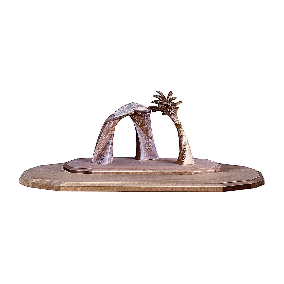 Capanna Redentore con palma e ampliamento presepe Original Redentore legno Valgardena 12 cm 4