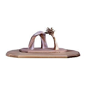Capanna Redentore con palma e ampliamento presepe Original Redentore legno Valgardena 12 cm s1