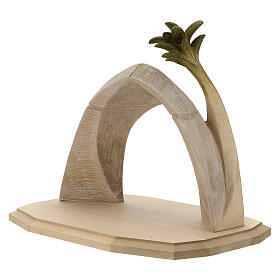 Nativity Scene in arched cave Original Redentore model in painted wood from Valgardena 12 cm - 9 pieces s7