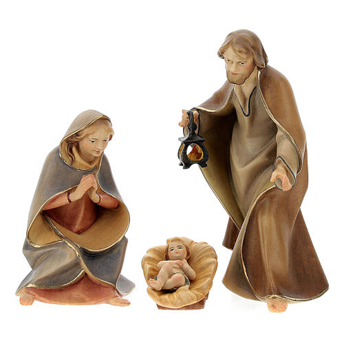 Nativity Scene in arched cave Original Redentore model in painted wood from Valgardena 12 cm - 9 pieces 2