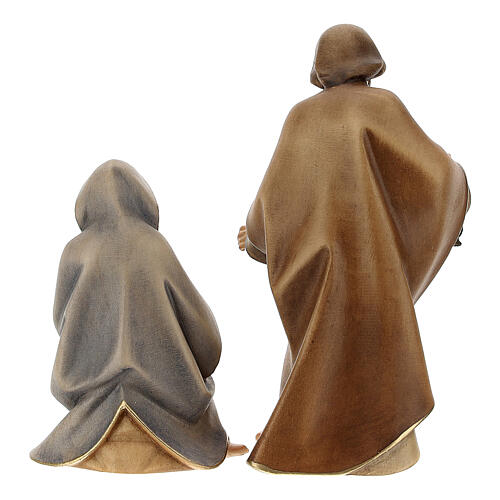 Nativity Scene in arched cave Original Redentore model in painted wood from Valgardena 12 cm - 9 pieces 8