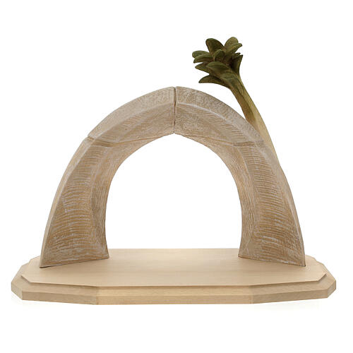 Nativity Scene in arched cave Original Redentore model in painted wood from Valgardena 12 cm - 9 pieces 12