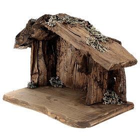 Sagrada Familia con pastor en la cueva belén Original Redentor madera Val Gardena de altura media 12 cm - 6 piezas s5