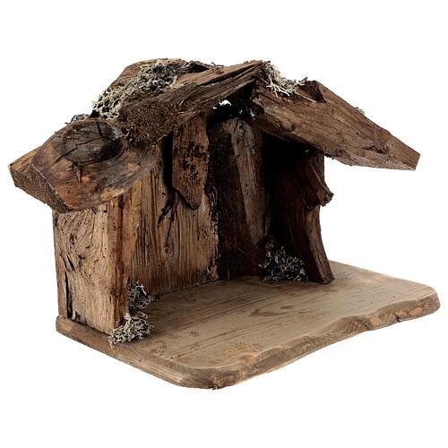 Sainte Famille avec berger dans grotte crèche Original Rédempteur bois peint Val  Gardena 12 cm 6 pcs 6