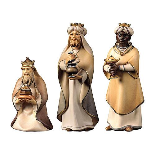 I tre magi presepe Original Cometa legno dipinto in Val Gardena 10 cm 1