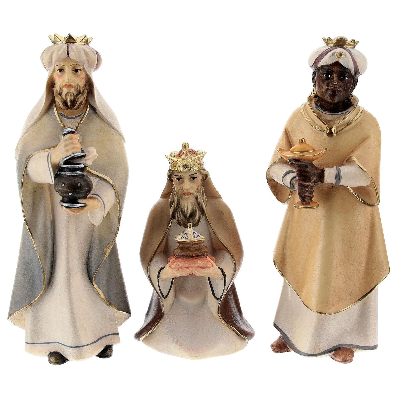 I tre magi presepe Original Cometa legno dipinto in Valgardena 12 cm 4
