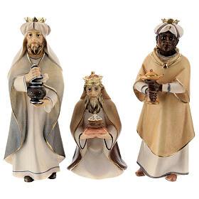 I tre magi presepe Original Cometa legno dipinto in Valgardena 12 cm s1