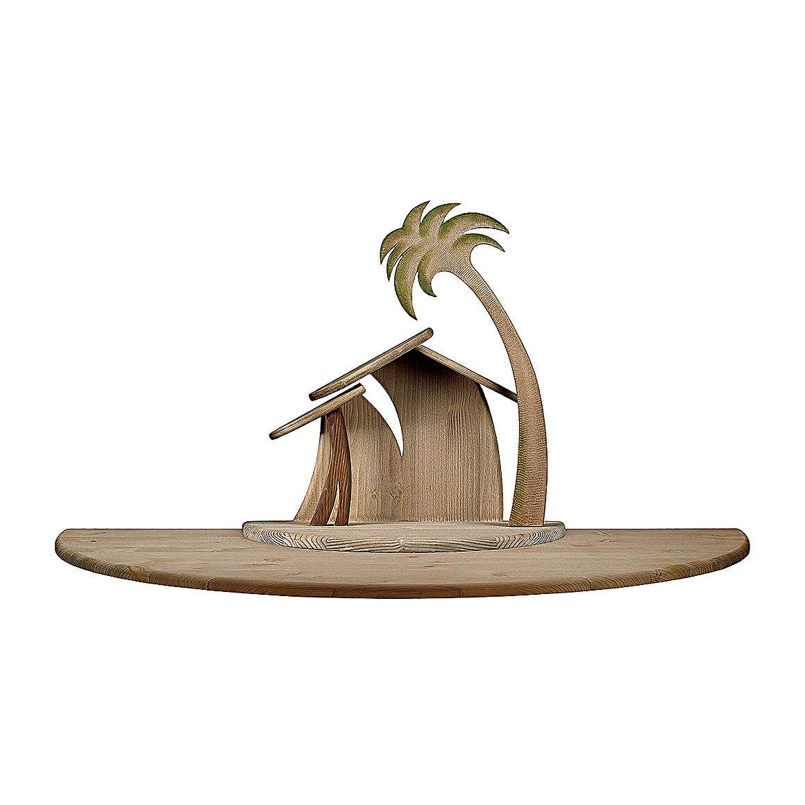 Capanna Cometa stilizzata con ampliamento presepe Original Cometa legno dip Val Gardena 12 cm 4