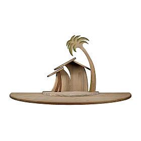Capanna Cometa stilizzata con ampliamento presepe Original Cometa legno dip Val Gardena 12 cm s1