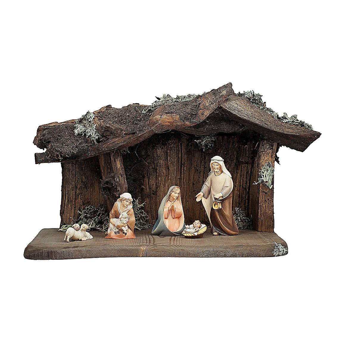 Presepe nella grotta mod. Original Cometa legno dipinto in Val Gardena 12 cm - 7 pz 4