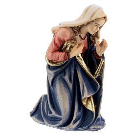 Santa Maria legno dipinto presepe Kostner 12 cm s3